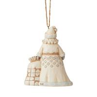 Heartwood Creek - White Woodland Santa (Hanging Ornament)
