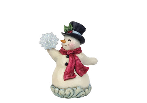 Heartwood Creek Winter's Simple Joys (Winter Wonderland Small Snowman holding Snowflake) - Heartwood Creek