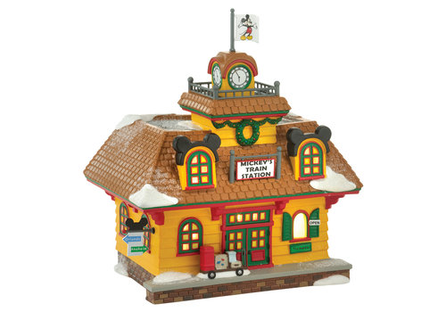 Disney Village by Department 56 Mickey's Holiday Train Station - Disney Village by D56