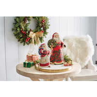 Heartwood Creek - Wherever You Go, Let Kindness Show (Walking Santa with Winter Scene)
