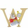"Enchanting Disney Collection Enchanting Disney Collection - ""W"" - White Rabbit"