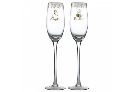 Enchanting Disney Collection Belle Wedding Toasting Glasses - Enchanting Disney Collection