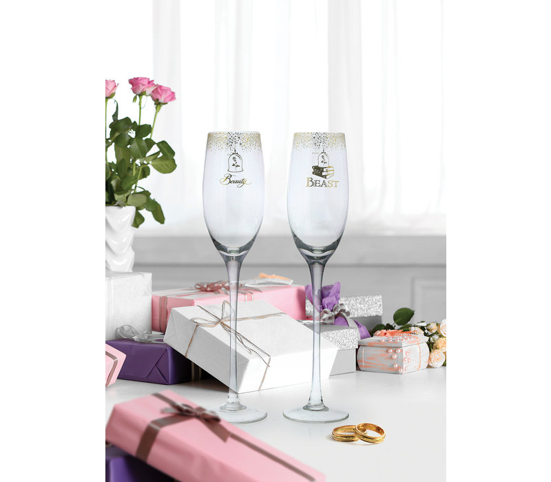 Enchanting Disney Collection - Belle Wedding Toasting Glasses