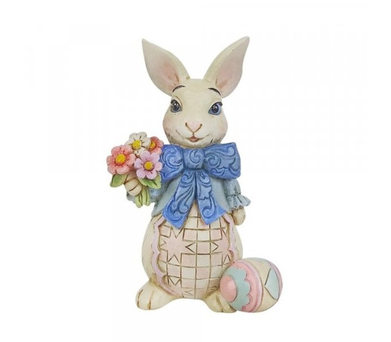 Heartwood Creek - Bunny with Bow and Flowers Mini