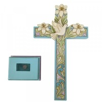 Heartwood Creek - Cross with Lilies and Dove