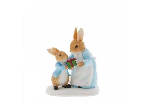 Beatrix Potter Mrs. Rabbit Passing Peter Rabbit a Present - Beatrix Potter