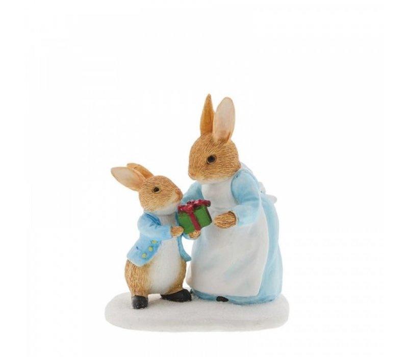 Beatrix Potter - Mrs. Rabbit Passing Peter Rabbit a Present