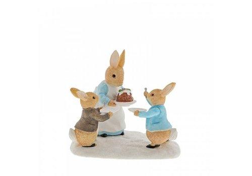 Beatrix Potter Mrs. Rabbit with a Christmas Pudding - Beatrix Potter