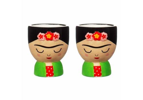Sass & Belle Frida Kahlo eierdopjes - Sass & Belle