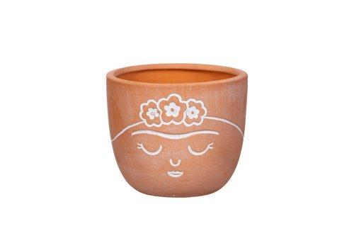 Sass & Belle Frida Kahlo terracotta mini bloempot - Sass & Belle