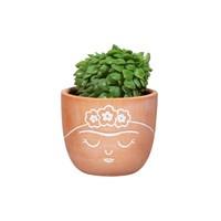Frida Kahlo terracotta mini bloempot - Sass & Belle