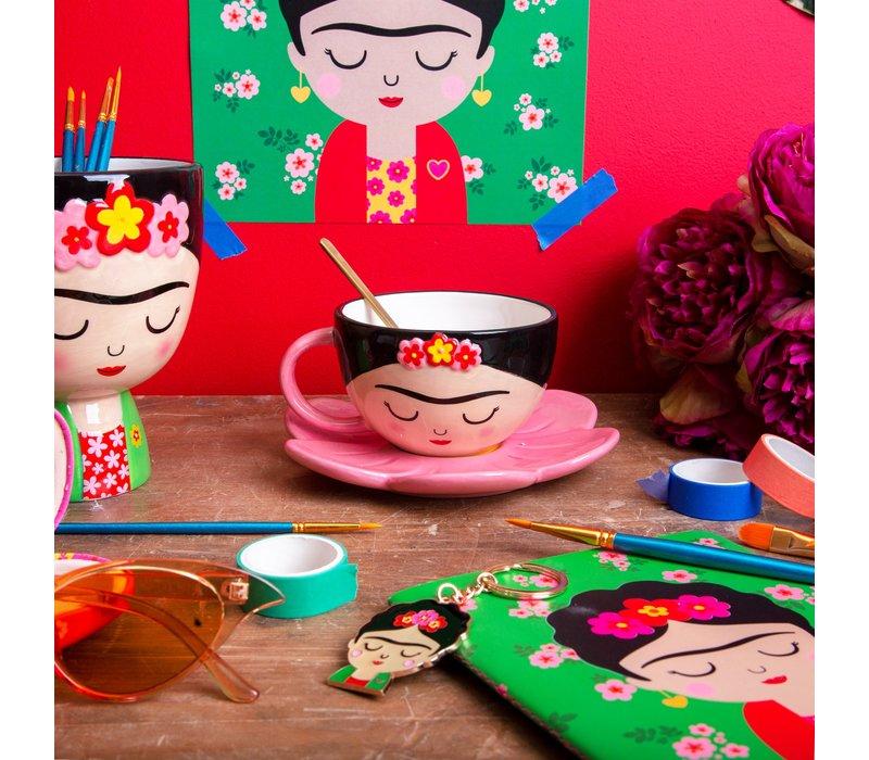 Frida Kahlo kop en schotel - Sass & Belle