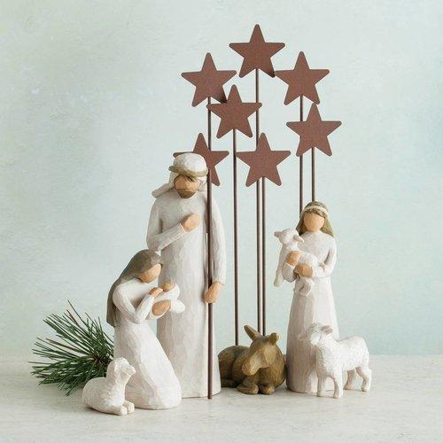 Het begin van de Willow Tree Kerststal is er!