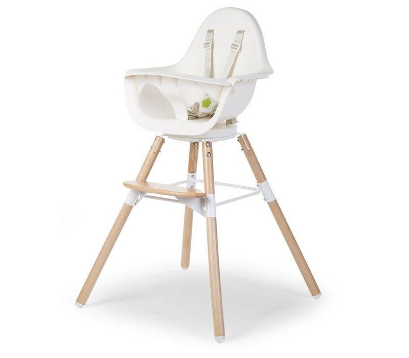 Evolu One.80° Eetstoel Naturel/wit 2in1 + Beugel
