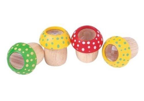 plan toys Houten Caleidoscoop Paddenstoel