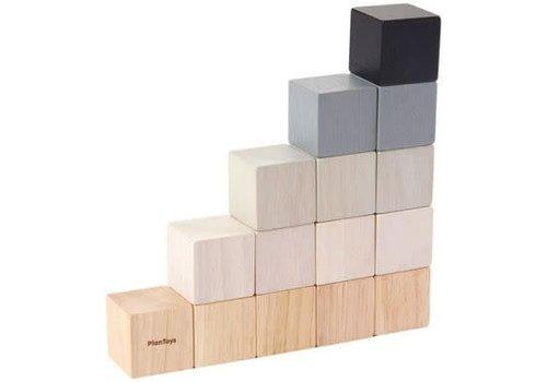 plan toys Vierkante blokken (15 stuks)