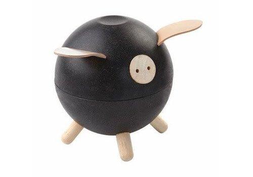 plan toys Spaarvarken Zwart