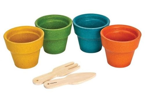plan toys Bloempot Set