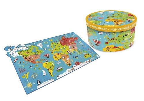 Scratch Scratch Puzzel Wereldkaart