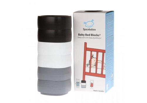 SB Baby Bed Blocks Spacebabies Baby Bed Blocks - Zwart, wit, grijs