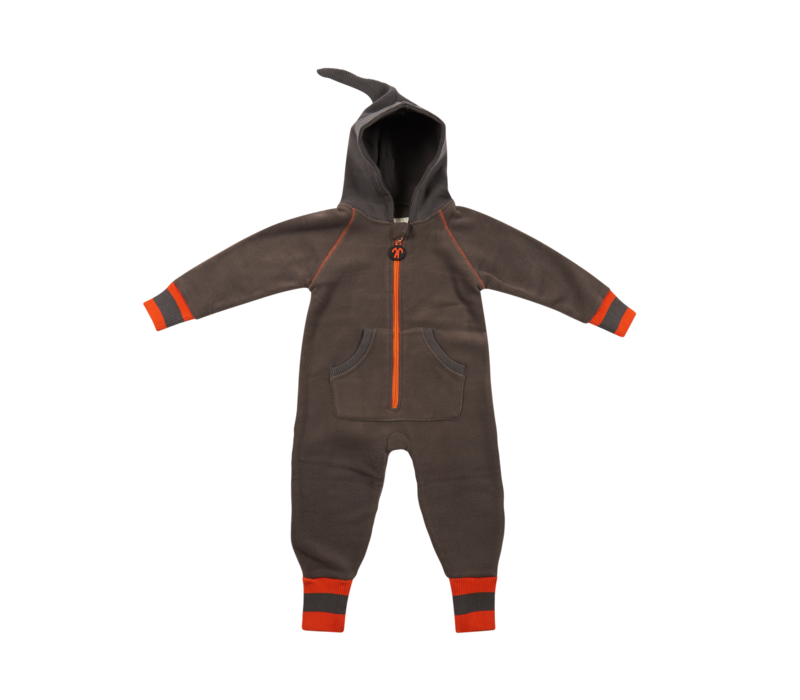 Ducksday Fleece Suit Grey/Orange
