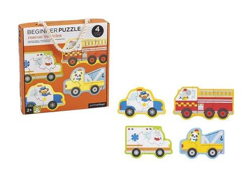 Petit Collage Petit Collage Puzzel Reddingswagens