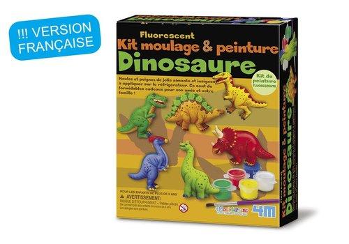 4M 4M Gips Gieten en Verven: Glow-Dinosaurussen