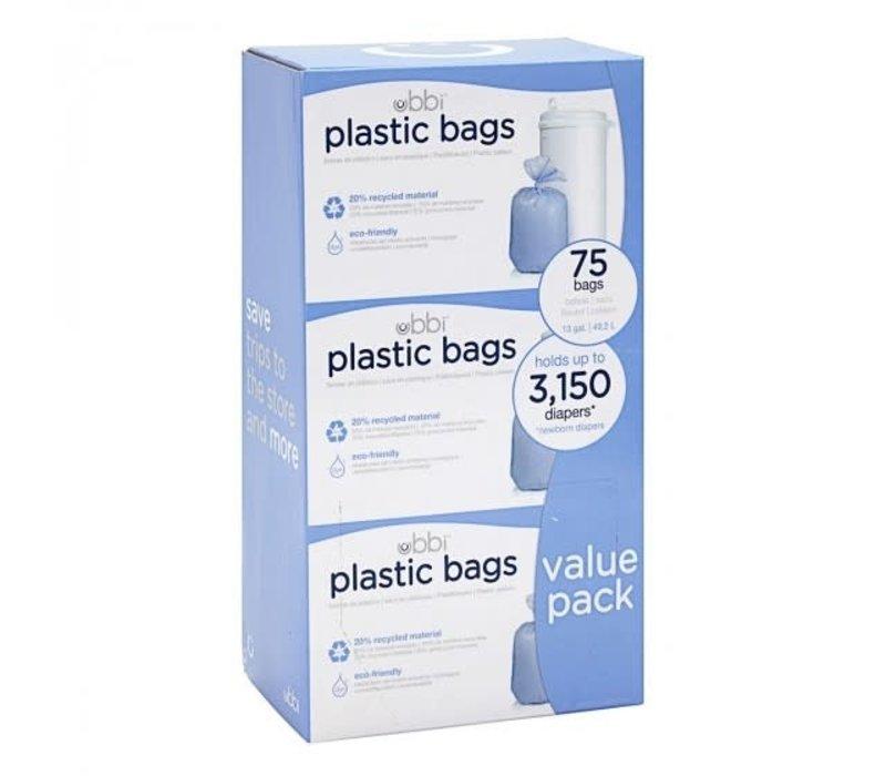 Ubbi biologisch afbreekbare zakken 3x25 stuks