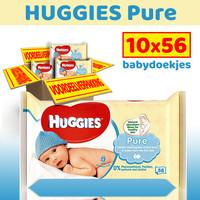 Huggies Pure - 10 x 56 billendoekjes