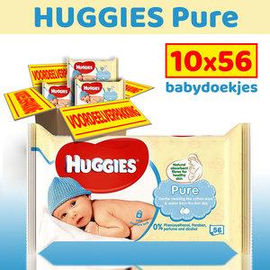 Huggies Huggies Pure - 10 x 56 billendoekjes