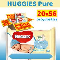 Huggies Pure Billendoekjes - 1120 babydoekjes
