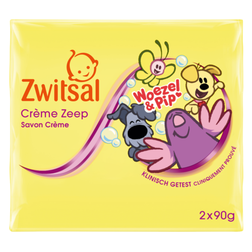 Zwitsal Zwitsal Woezel & Pip zeep - 2 x 90 gram