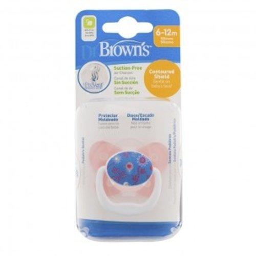 Dr. Brown Dr. Brown's Fopspeen - 6 -12 maanden - Roze