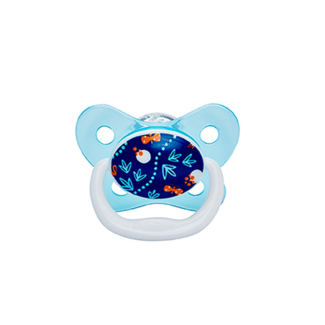 Dr. Brown Fopspeen - 6 -12 maanden - Blauw Bloem