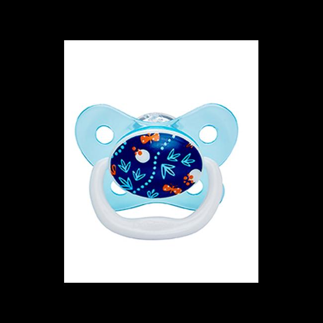 Dr. Brown's - Fopspeen - Fase 2 - Blauw Bloem - 6/12 maanden