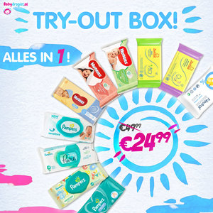 Babydrogist.nl TRY-OUT BOX alle merken billendoekjes!