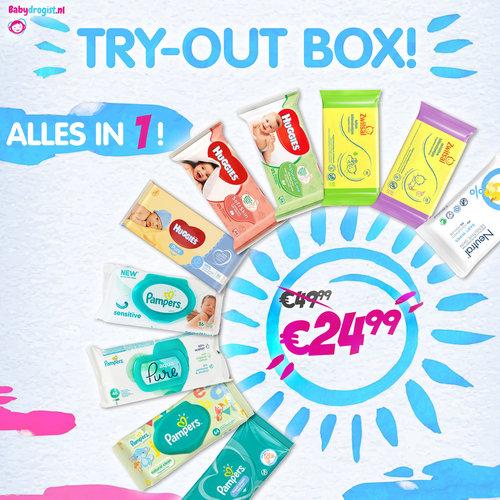 Babydrogist.nl TRY-OUT BOX alle merken billendoekjes!