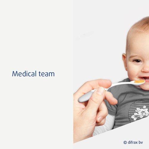 Difrax Difrax - Lepels voor babyvoeding - Blauw