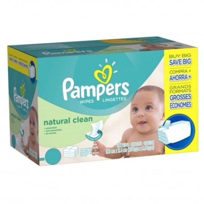 Pampers Pampers Natural Clean Billendoekjes - 768 babydoekjes