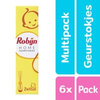 Robijn Home - Geurstokjes Zwitsal - 6 x 45 ml - Voordeelpak