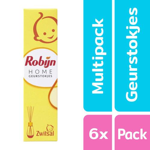Robijn Robijn Home - Geurstokjes Zwitsal - 6 x 45 ml - Voordeelpak