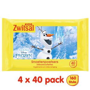 Zwitsal Zwitsal Kids Frozen Snoetenpoetsers - 4 x 40  monddoekjes