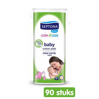 Septona Septona baby wattenschijfjes - 100% katoen - 90 pads - Super absorberend