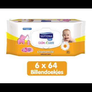 Septona Septona - Baby Natural Care Kamille - Billendoekjes - 0% Alcohol & Zeep - 6 x 64