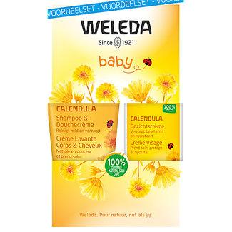 Weleda Weleda Calendula - Shampoo & Gezichtscréme - Voordeelset