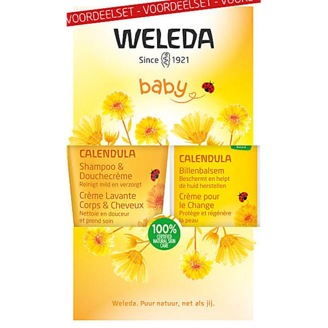Weleda Weleda Calendula - Voordeel set Shampoo + Billenbalsem