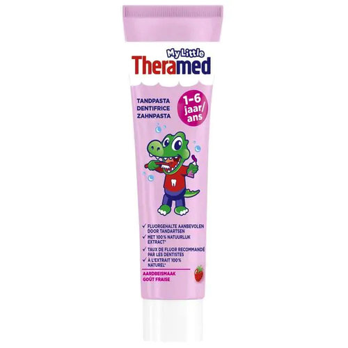 Theramed My little Theramed 1-6 jaar - tandpasta - Aardbij