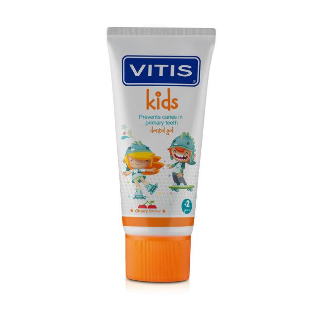 Vitis Vitis Kids - Tandpasta & Gel - 2+ jaar - 50ml - Kersen smaak