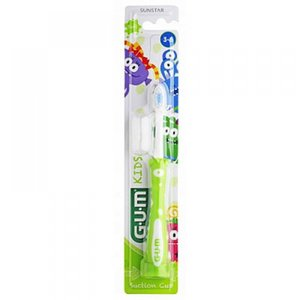 Sunstar-Gum Sunstar Gum Kids  - 3-6 jaar tandenborstel - Groen