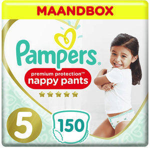 Pampers Premium Protection Pants - Maat 5 - Maandbox - 150  luierbroekjes